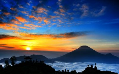 Golden Sunrise in Dieng Plateau