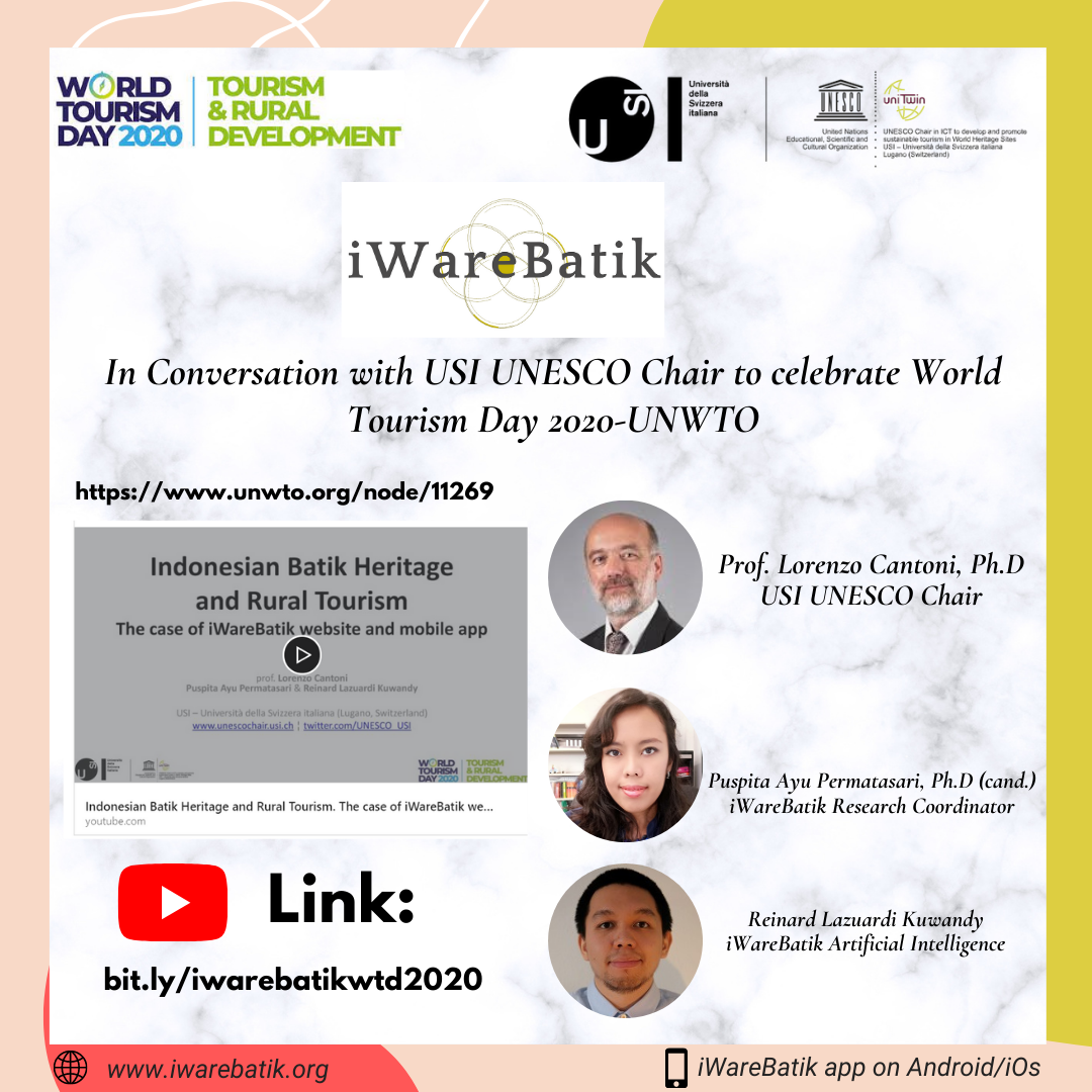 iWareBatik in Conversation with USI UNESCO Chair to celebrate World Tourism Day 2020-UNWTO