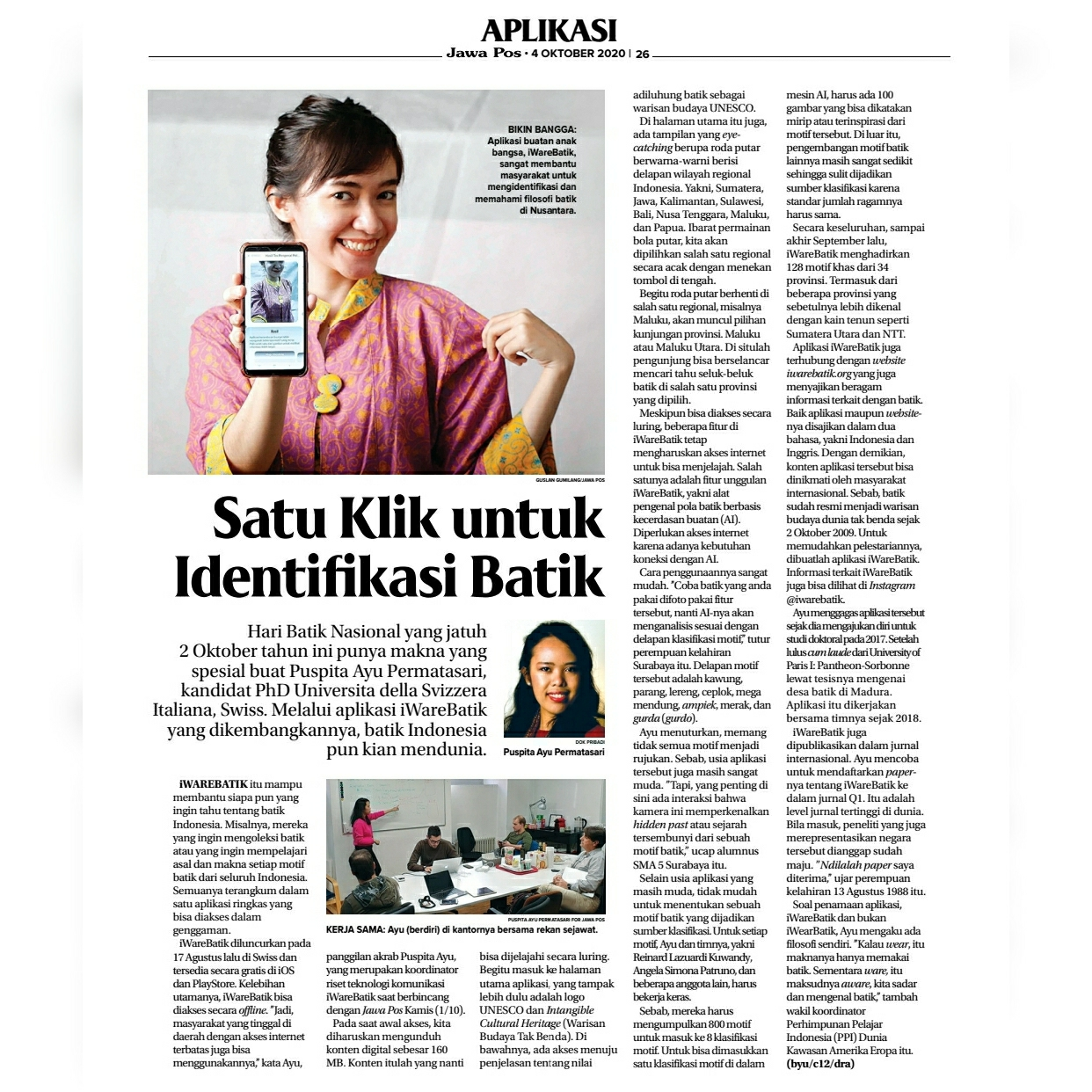 iWareBatik on Youth Oath Day 2020: Exclusive interview with Jawa Pos, Mata Garuda LPDP and Australian Garland Magazine