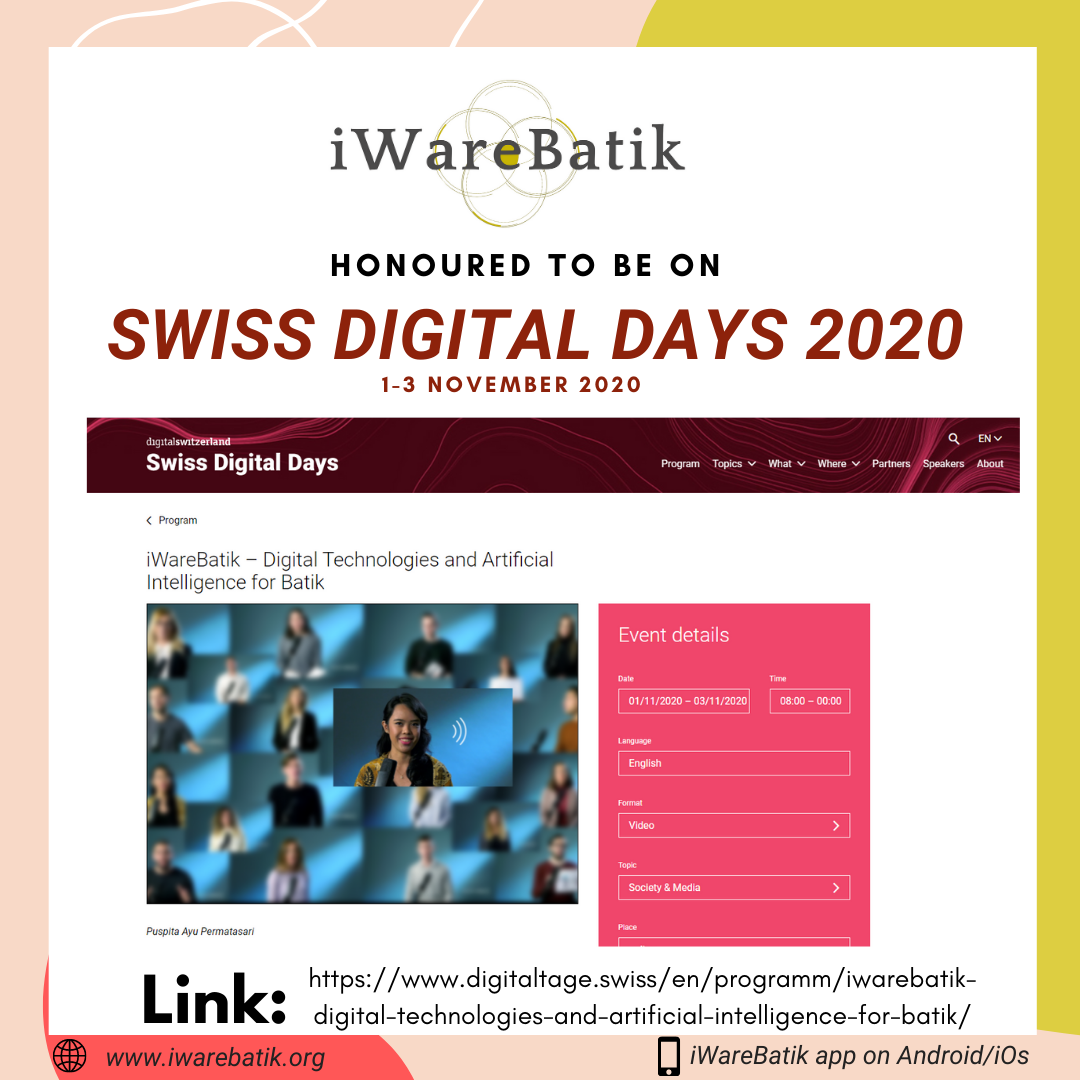 iWareBatik on Prestigious Swiss Digital Days 2020