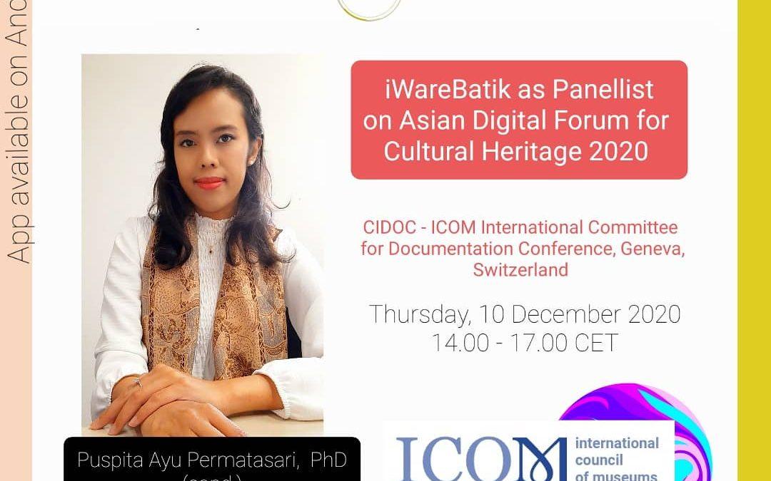 iWareBatik pada Acara Forum Digital Asia CIDOC – ICOM 2020 di Jenewa