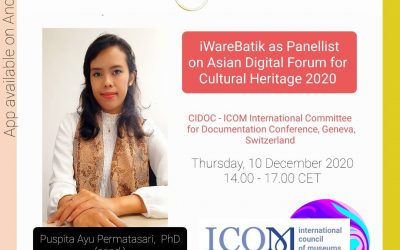 iWareBatik Presented on Asian Digital Forum CIDOC – ICOM Conference 2020