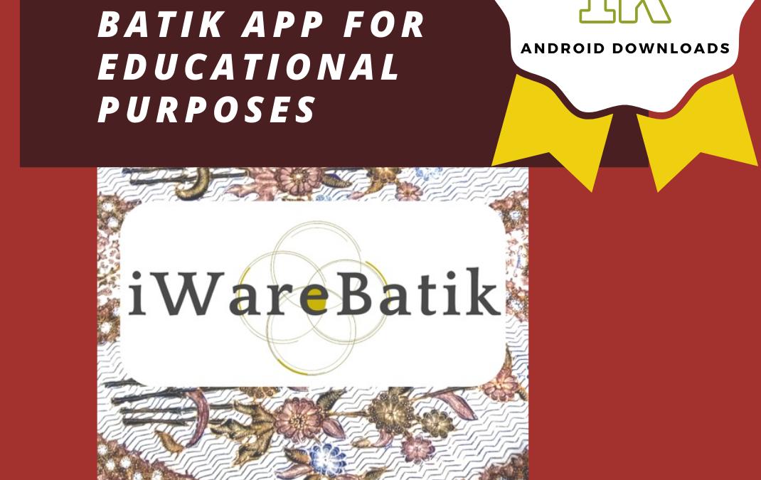 Aplikasi Terpopuler: Capaian Aplikasi iWareBatik Lebih Dari 1000 unduhan