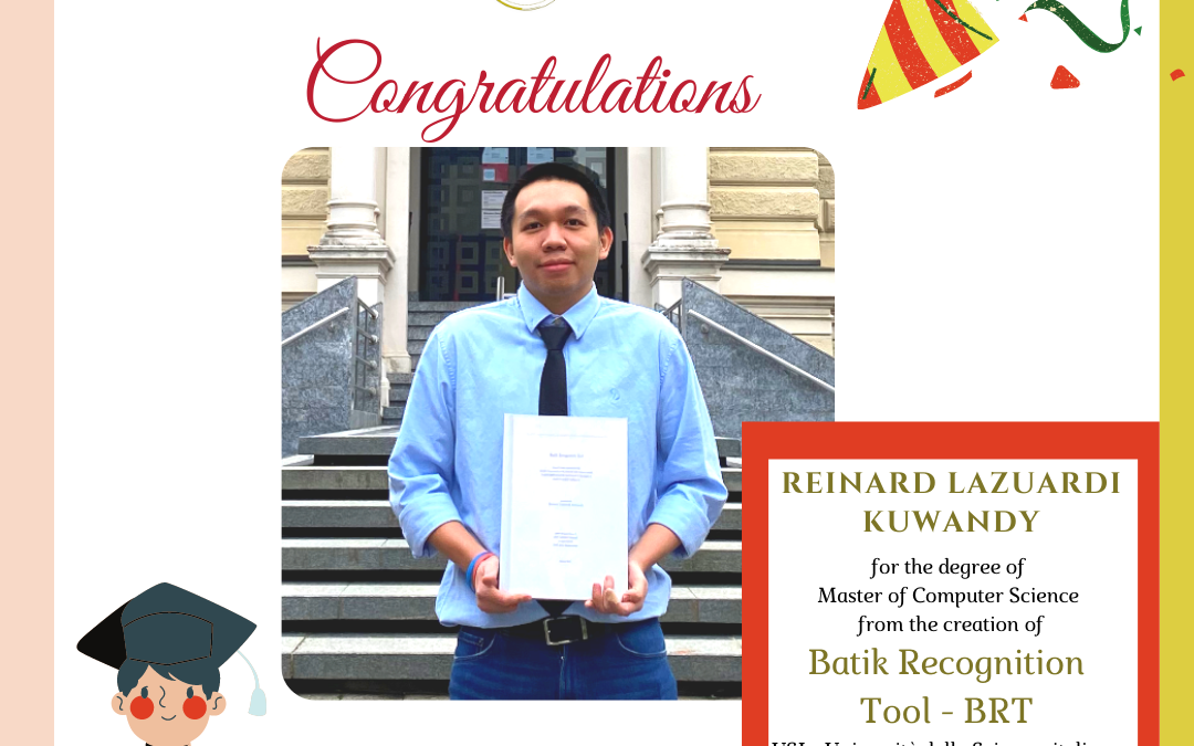 Batik Recognition Tool: Successful USI Master Thesis in Artificial Intelligence Presented by Reinard Lazuardi Kuwandi